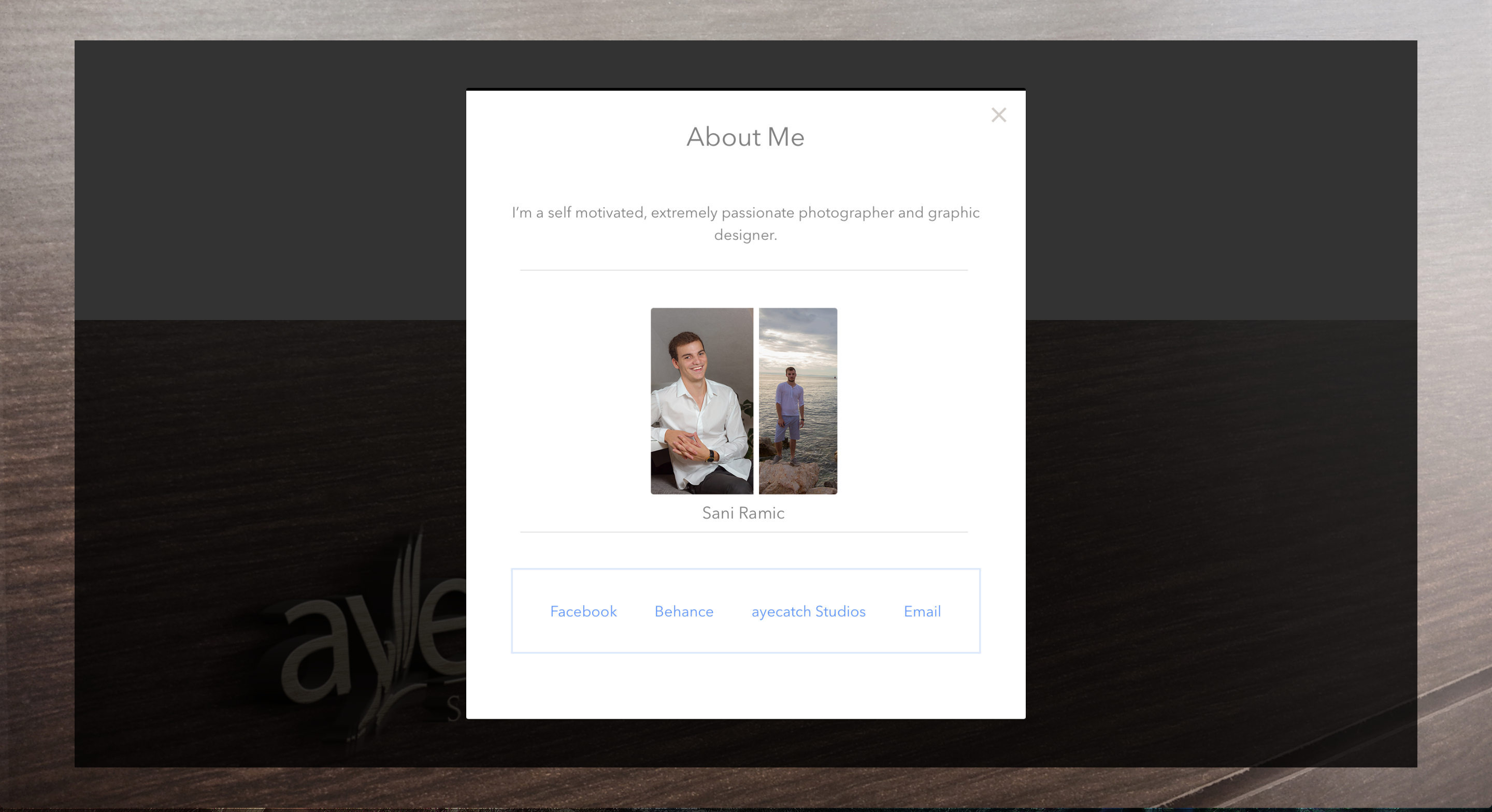 ayecatch landing page design about